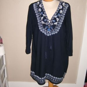 Forever 21 Long Sleeves Tunic Top Large